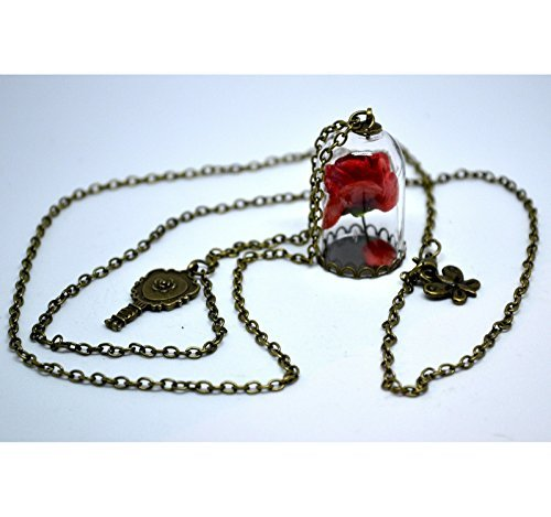 Beauty and the Beast Rose Dome Necklace Reino de Juguetes