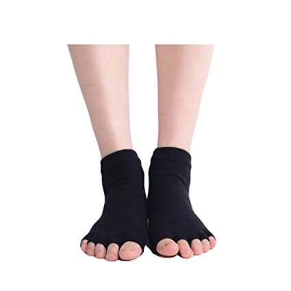 ZHAO YING Open Toe - Five Fingers - Calcetines De Yoga - Suave - Transpirable -