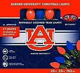 Let's Light it Up Auburn University Orange and Blue Decorative Lights, 25 Count