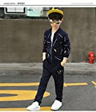 FTSUCQ Boys Zip Front Sports Tracksuits Coat Shirt