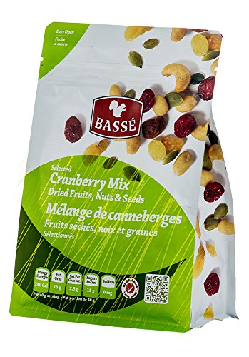 7oz Cranberry Trail Mix Bag from Basse Nuts, Selected Craisin Trail Mix Dried Fruits, Nuts, & Seeds Snack with Dried Cranberries, Roasted Peanuts, Raisins, Raw Pumpkin Seeds, Roasted Cashews & More! Review