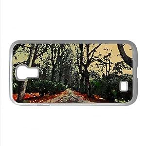 Dark Fall Watercolor style Cover Samsung Galaxy S4 I9500 Case (Autumn Watercolor style Cover Samsung Galaxy S4 I9500 Case)