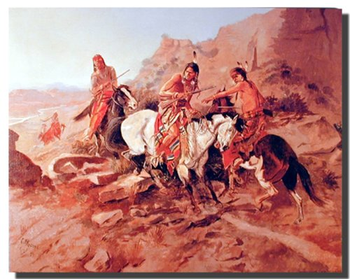 Old American West Wall Decor Charles Marion Russell The Scout Art Print Poster (16x20)