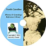 North Carolina History and Genealogy - 128 Books on DVD Ancestry, Records, Family