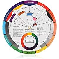 Color Wheel Color Mix Guide, ATOMUS Tattoo Pigment Chart Supplies for Paint Permanent Eyebrow Lip Body Tattoo (5.51in)