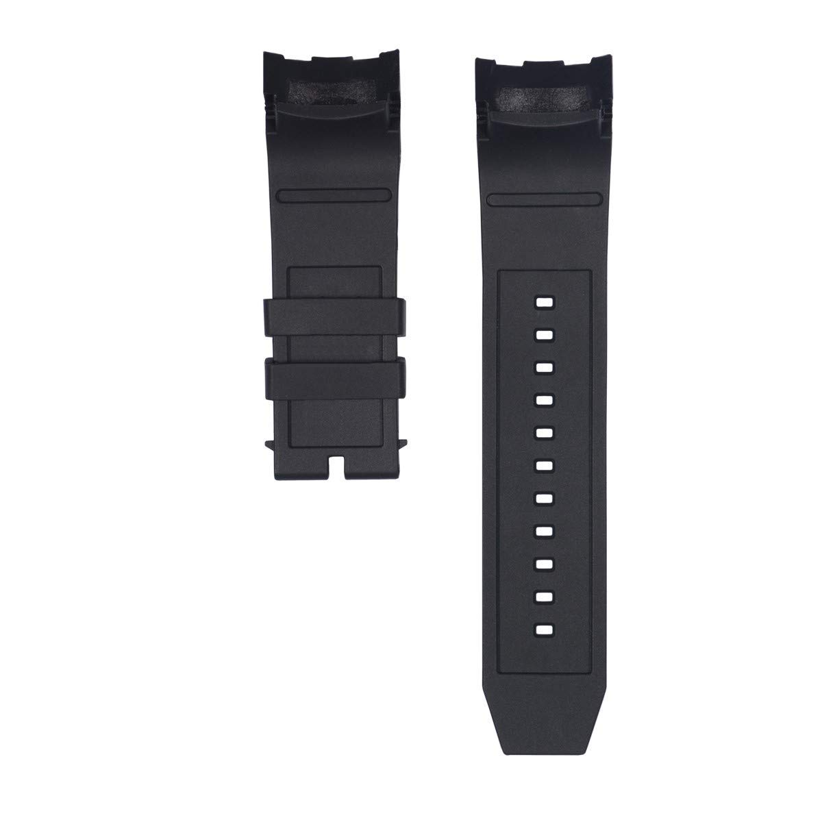CACA for Invicta Pro Diver Watch Replacement Rubber Silicone Band/Strap - Black Invicta Watch Bands by CACA Watchband (Image #2)