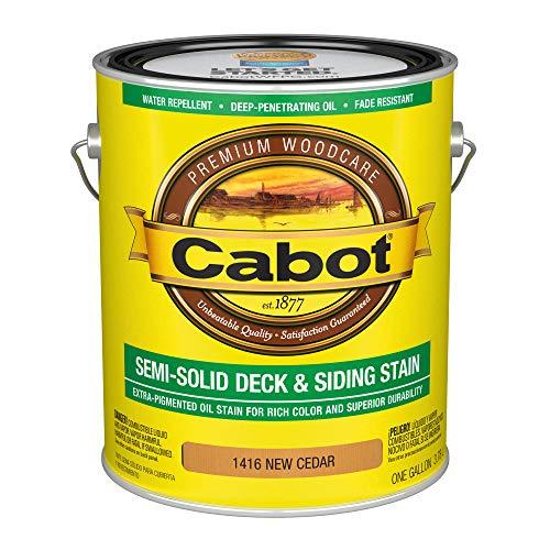 Cabot 140.0001416.007 Semi-Solid Deck & Siding Stain, Gallon, New Cedar