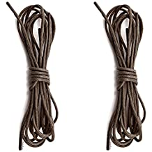 """DailyShoes Round Waxed Shoelaces Oxford Flat Dress Canvas Sneaker Shoe Laces (27"""" 36"""" 45"""" 54"""" 60"""" 78"""") Unisex Strings-2-Pairs"""