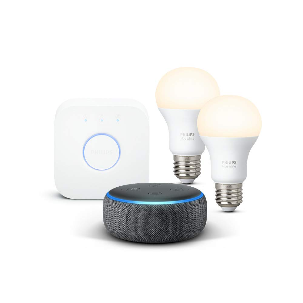 Echo Dot 3rd Gen + Philips Hue Starter Set Bundle