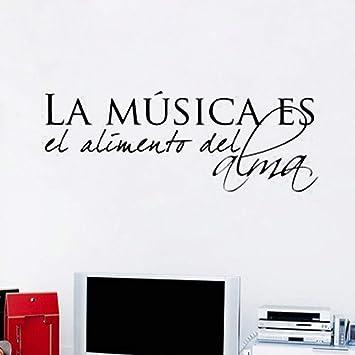 La música española es la comida del alma Vinilo Pegatinas de pared ...