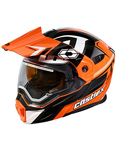 Castle X EXO-CX950 Slash Electric Snowmobile Helmet (LRG, Flo Orange/Black)