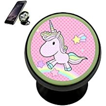 Vehicle Phone Mount Cute Unicorn Holder Magnetic Universal Cradle Stand Car Dashboard Mount Strong Magnets Cell Phone Kit Women Men