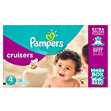 Pampers Cruisers Diapers Size 4, Mega Box, 136 Count