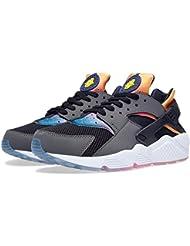 Nike Air Huarache Run SD (Black/PRSN Vlt-Tr Yllw-Pnk Pw)