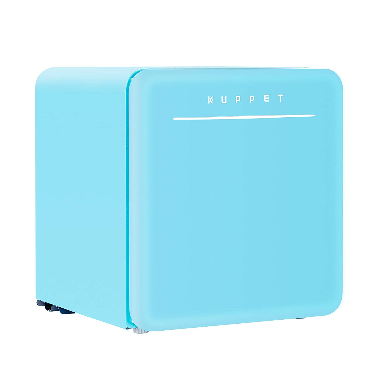 KUPPET Classic Retro Compact Refrigerator Single Door, Mini Fridge with Freezer, Small Drink Chiller for Home,Office,Dorm, Small beauty cosmetics Skin care mask refrigerated for home,1.6 Cu.Ft Blue