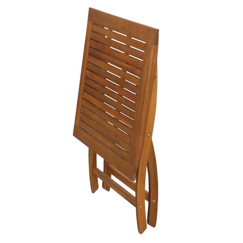 un 100 por ciento de 70x70 cm Siena Garden 316949 de Color marr/ón engrasado Fsc Plegable Tabla de Acacia