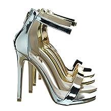 High Heel Open Toe Stilettos, Women's Fashion Ankle Strap Sandal
