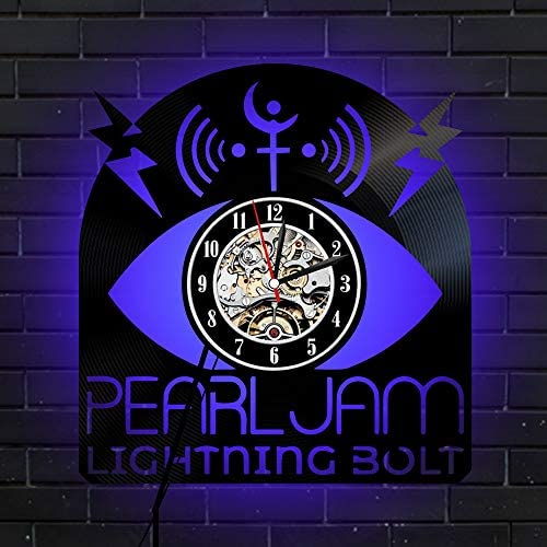 wide range latest discount unique design Amazon.com: Levescale - Pearl Jam Lighted Vinyl Wall Clock ...