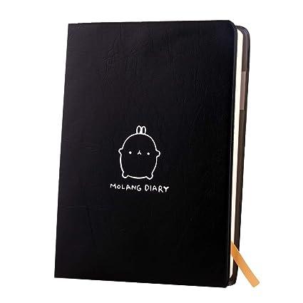 amazon com haiker black molang rabbit diary any year planner