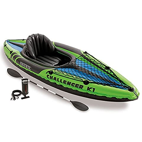Intex Challenger K2 Kayak, 2-Person Inflatable Kayak Set with Aluminum Oars and High Output Air (K2 2 Persona)