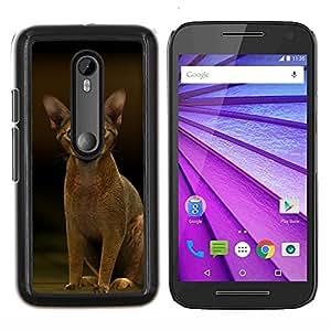 EJOOY---Cubierta de la caja de protección para la piel dura ** Motorola MOTO G3 / Moto G (3nd Generation) ** --Abisinio javanesa gato felino Corto