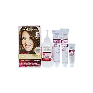 L'Oreal Paris Excellence Creme Triple Protection Hair Color, [6G] Light Golden Brown 1 ea