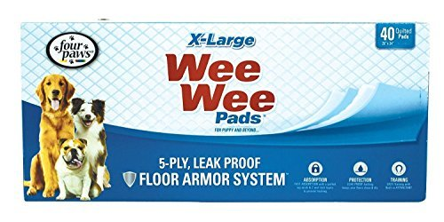 Four Paws Wee-Wee Pads, Extra Large, 40-Pack, New, Free Shipping