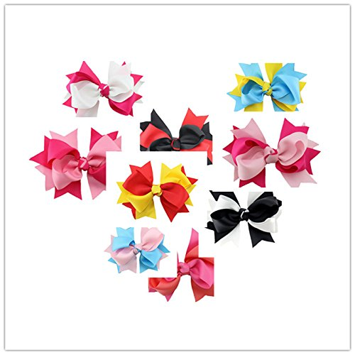 Dogs Kingdom Handmade Polka Dot Swallowtail Dog Cat Puppy Hairpin Mixed Colors Swallowtail Butterfly Knot Dog Hairpin Bow Hairpin Jewelry 10Pcs Swallowtail by Dogs Kingdom (Image #1)
