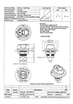 100A 200A Batterie Isolator Ausgeschnitten Kill Switch Kit Auto Rennen Rally Schalter mit draht stecker batterie schalter marine f/ür motorrad 200A auto Jtron 50A boart
