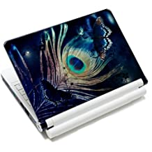 15 15.6 inch Laptop Notebook Vinyl Skin Sticker Protector Cover Art Decal for Apple MacBook Pro 15/New Macbook Pro Retina/HP Pavilion ENVY 15/HP Pavilion dv6 g6 series/Dell inspiron/Sony VAIO/Samsung ATIV Book/Acer Aspire/LENOVO ideapad IBM/Toshiba Satellite(Included 2 Wrist Pad) - Peacock Feather