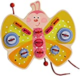HABA Butterfly Threading Game - 47 Pieces of Versatile 3D Lacing Fun