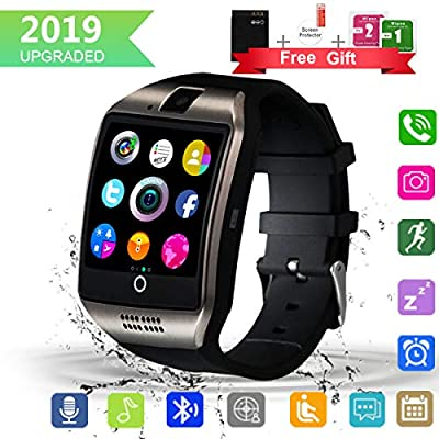 Bluetooth Smart Watch with Camera Touchscreen,Waterproof Smartwatch Unlocked Phone Watchs with SIM Card Slot, Smart Wrist Watch Compatible with Android iPhone