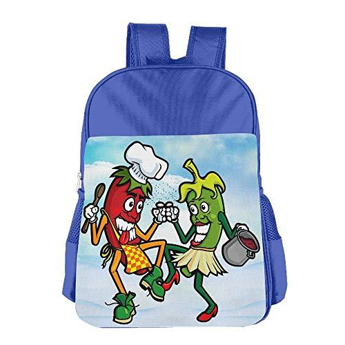 - Kids Backpacks Funny School Bag For Boys & Girls Dance Chili Pepper