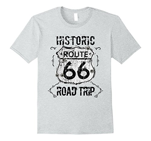 Mens Route 66 Road Trip Memorabilia T-Shirt XL Heather (Route 66 Memorabilia)