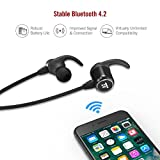 TaoTronics Bluetooth Headphones Wireless Headphones with Bluetooth 4.2 Sweatproof Earphones with Magnetic Earbuds Snug Fit for Sports with MEMS Mic and 6 Hours Playtime