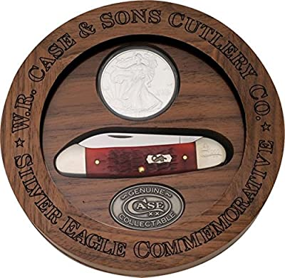 Case Cutlery CA06282 Canoe/Silver Eagle Coin Set 62131SS Pattern Hunting Knives
