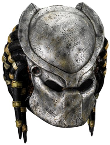 Aliens Vs Predator Requiem Costume with Deluxe Overhead Predator Mask, Gray, One Size