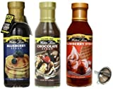 Walden Farms Blueberry, Chocolate, and Strawberry Syrup 3 Variety Pack