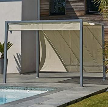 DCB Pergola Design tonnelle Aluminium Brise Soleil 3x3m textilène ...