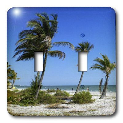 3dRose LLC lsp_7283_2  Fort Myers Beach Paradise Double Toggle - Outlet Myers Fort