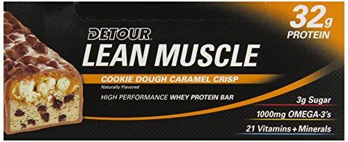 Detour Lean Muscle Nutrition Bars, Cookie Dough Caramel Crisp, 90 Gram (Pack of 12)