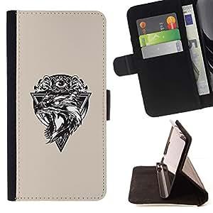 Momo Phone Case / Flip Funda de Cuero Case Cover - Lobo Triángulo;;;;;;;; - Sony Xperia Z5 Compact Z5 Mini (Not for Normal Z5)