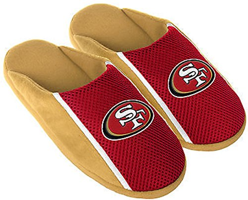 San Francisco 49ers NFL Mens Jersey Slide Slipper Adult Sizes (Nfl San Francisco 49ers Slipper)