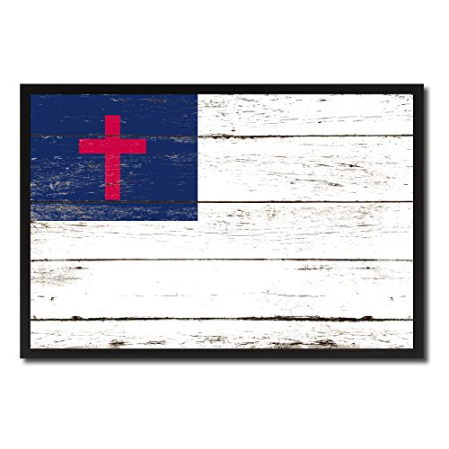 Kayso Christian Religious Military Flag Vintage Canvas Print Picture Frame Home Decor Man Cave Wall Art Collection Gift Ideas by SpotColorArt