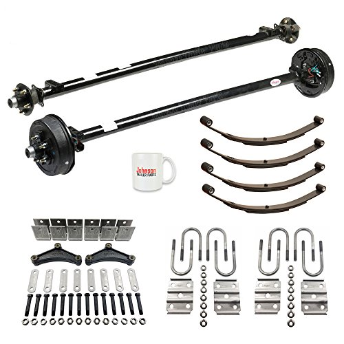 Tandem 3,500 lb Trailer Axle Running Gear Set w/Hanger Kit (85