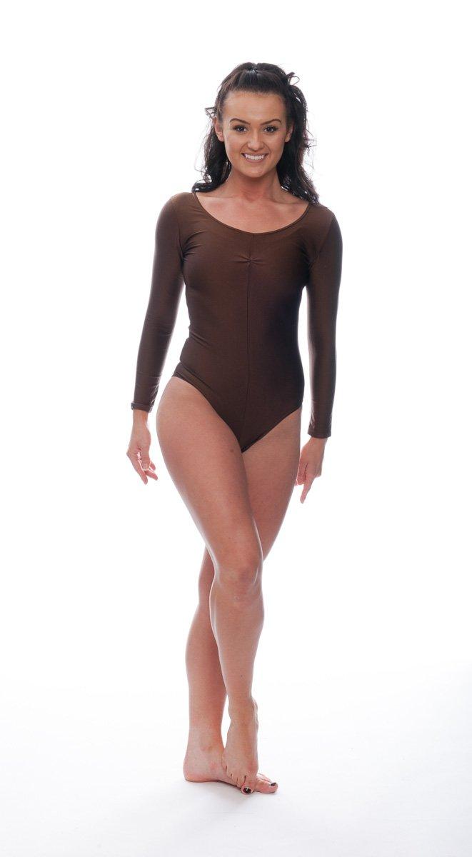 KDC009 All Colours Ballet Dance Gym Gymnastics Long Sleeve Ruched Front Lycra Leotard By Katz Dancewear