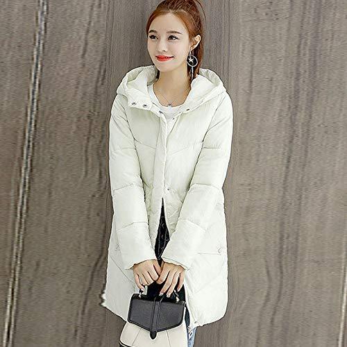Capuche Manteau Susenstone Blanc Coton La Mode Coats Femmes Parka À Épais Long Slim Outwear Veste Hiver En Winter Chaud zzw5qrR