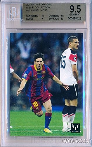 9.5 Gem Mint Bgs (Lionel Messi Official Card Collection Lionel Messi Graded HIGH BGS 9.5 GEM MINT Featuring Messi in his FC Barcelona Uniform ! Awesome Super High Grade Card of World's Biggest & Best Soccer Superstar!!)