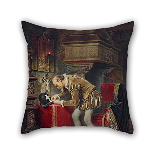 [Oil Painting KÄrlis Teodors HÅ«ns - On The Eve Of St. Bartholomew's Night (Ligist) Cushion Covers ,best For Teens Boys,dining Room,pub,birthday,lounge,her 20 X 20 Inches / 50 By 50 Cm(two] (0-3 Months Baby Halloween Costumes Uk)