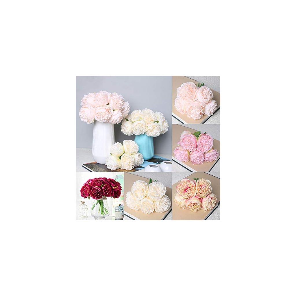 angel3292-Clearance-DealsArtificial-Plant1-Bouquet-5-Heads-Artificial-Peony-Silk-Flower-Bridal-Wedding-Home-Garden-Decor
